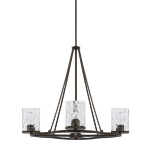 HomePlace Collier Urban Brown 28-Inch Four-Light Chandelier