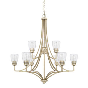 HomePlace Newbury Winter Gold 37-Inch Nine-Light Chandelier