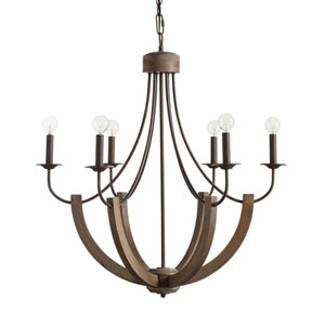 Tybee Nordic Grey Six-Light Chandelier