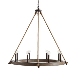 Tybee Nordic Grey Eight-Light Chandelier