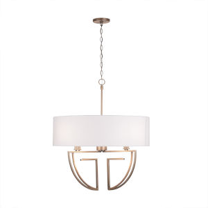 Aged Brass Four-Light Chandelier