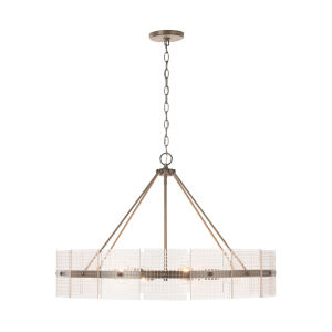Drew Aged Brass Six-Light Chandelier