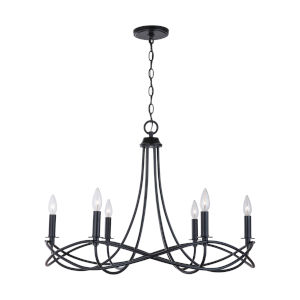 Sonnet Matte Black Six-Light Chandelier
