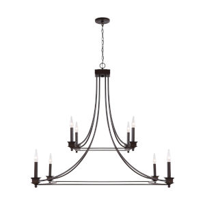 Marlow Old Bronze Eight-Light Chandelier