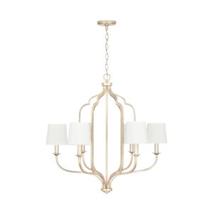 Ophelia Winter Gold Six-Light Chandelier