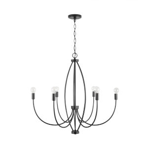 Corey Matte Black Six-Light Chandelier