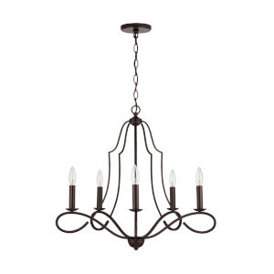 HomePlace Cameron Bronze Five-Light Chandelier