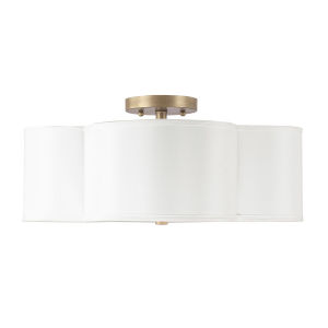 Quinn Brushed Gold Four-Light Semi-Flush