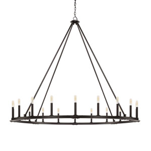 Pearson Black Iron 20-Light Chandelier