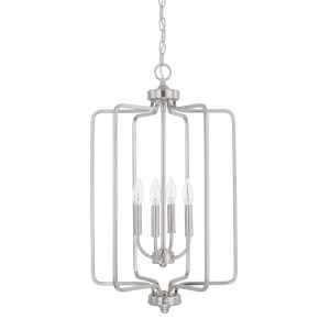 HomePlace Braylon Brushed Nickel 16-Inch Four-Light Pendant