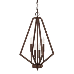 HomePlace Baxley Bronze 16-Inch Four-Light Pendant