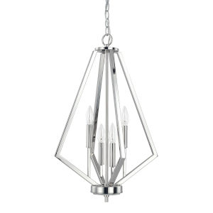 HomePlace Baxley Polished Nickel 16-Inch Four-Light Pendant