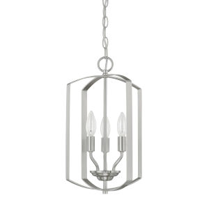 HomePlace Brushed Nickel 17-Inch Three-Light Pendant