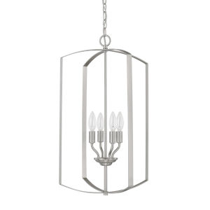 HomePlace Brushed Nickel 15-Inch Four-Light Pendant