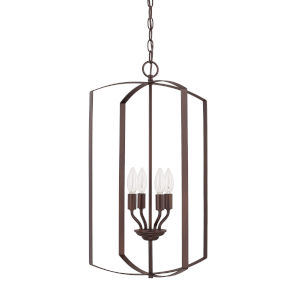 HomePlace Bronze 15-Inch Four-Light Pendant