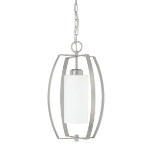HomePlace Brushed Nickel 17-Inch One-Light Pendant
