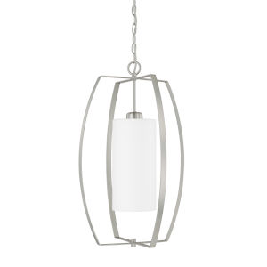 HomePlace Brushed Nickel 16-Inch One-Light Pendant