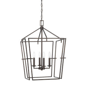 HomePlace Bronze 19-Inch Four-Light Pendant