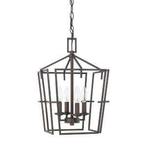 HomePlace Bronze 12-Inch Four-Light Pendant