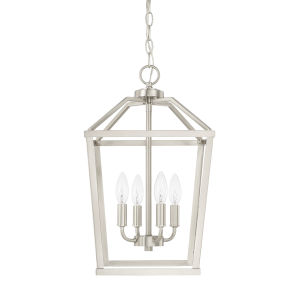 HomePlace Brushed Nickel 11-Inch Four-Light Pendant