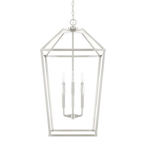 HomePlace Brushed Nickel 17-Inch Six-Light Pendant