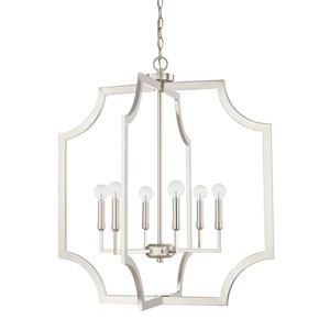 Polished Nickel Six-Light Pendant