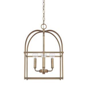 HomePlace Aged Brass 13-Inch Four-Light Pendant