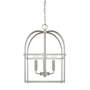 HomePlace Brushed Nickel 13-Inch Four-Light Pendant