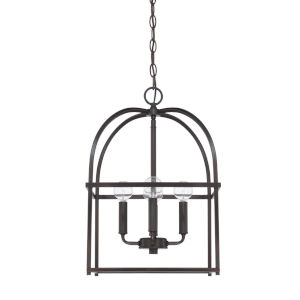 HomePlace Matte Black 13-Inch Four-Light Pendant