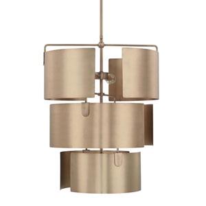 Wells Aged Brass Five-Light Pendant