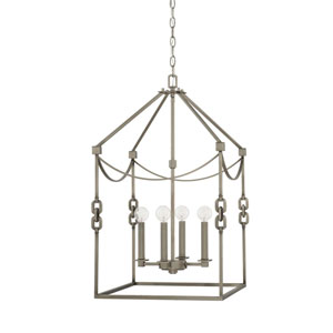 Wallace Antique Nickel 17-Inch Four-Light Pendant