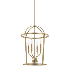 HomePlace Greyson Aged Brass 16-Inch Four-Light Pendant