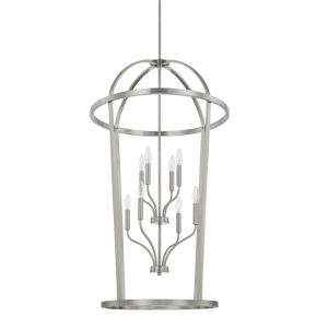 HomePlace Greyson Brushed Nickel 25-Inch Eight-Light Pendant