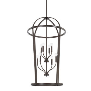 HomePlace Greyson Bronze 25-Inch Eight-Light Pendant