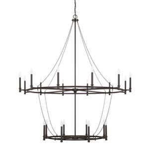 Lancaster Black Iron 20-Light Chandelier