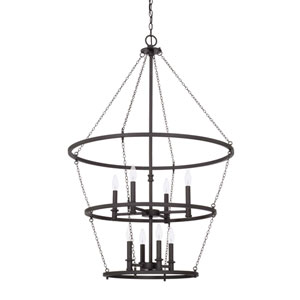 Lancaster Black Iron Eight-Light Pendant