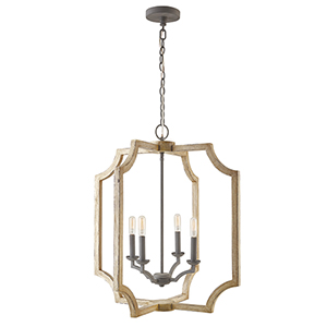 Independent Sea Salt 25-Inch Four-Light Foyer