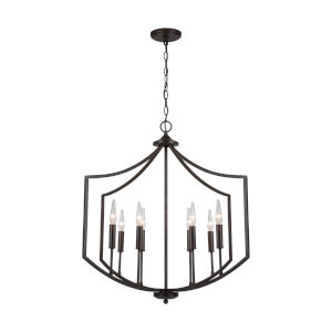 Marlow Old Bronze Eight-Light Foyer Pendant