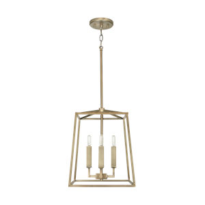 Thea Aged Brass Four-Light Foyer Pendant