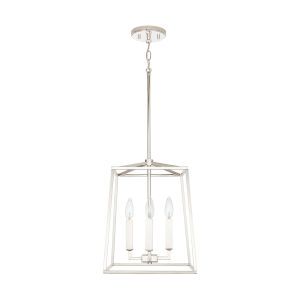 Thea Polished Nickel Four-Light Foyer Pendant