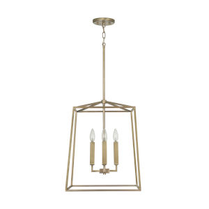 Thea Aged Brass 71-Inch Four-Light Foyer Pendant