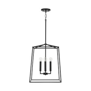 Thea Matte Black 20-Inch Four-Light Foyer Pendant