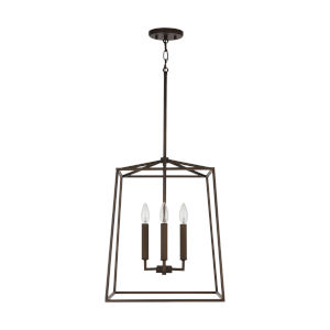 Thea Oil Rubbed Bronze 71-Inch Four-Light Foyer Pendant