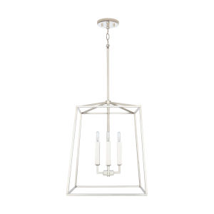 Thea Polished Nickel 71-Inch Four-Light Foyer Pendant