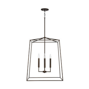 Thea Oil Rubbed Bronze 78-Inch Four-Light Foyer Pendant