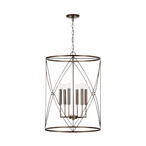 Adrian Buffed Bronze Six-Light Foyer Pendant