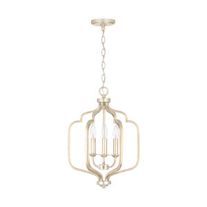 Ophelia Winter Gold Three-Light Foyer Pendant