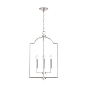 HomePlace Carter Brushed Nickel Four-Light Foyer Pendant