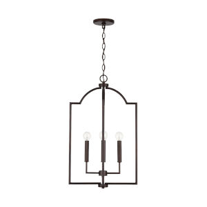 HomePlace Carter Bronze Four-Light Foyer Pendant