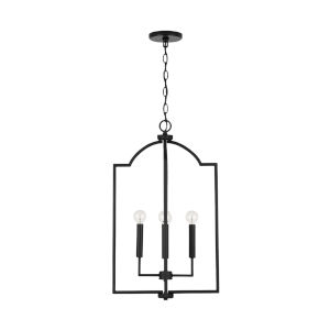 HomePlace Carter Matte Black Four-Light Foyer Pendant